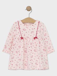 Robe manches longues rose pâle bébé fille TADARLA / 20E1BFC1ROB301