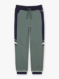 Pantalon de jogging vert kaki enfant garçon BANUAGE2 / 21H3PG31JGB604