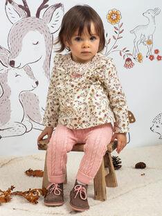 Ensemble blouse imprimée et legging bébé fille BAISTELLE / 21H1BFJ1ENS001