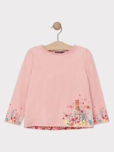 T-Shirt rose manches longues fille TAMOETTE / 20E2PFB1TML307