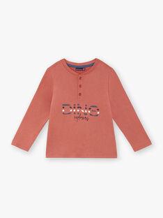 T-shirt manches longues rouge imprimé ZECRIAGE / 21E3PGB1TML506