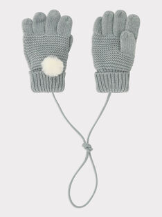 Gants point mousse gris perle fille SUIFURETTE / 19H4PFN1GAN904