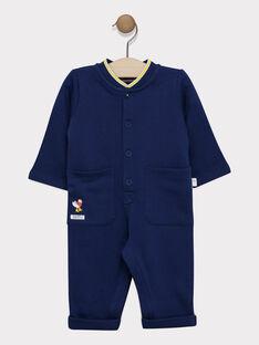 Combinaison bébé garçon bleu marine  SAFELIZ / 19H1BG41CBLC214