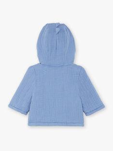 Veste à capuche bleue bébé garçon ZOUHIR / 21E0CGG1VESC203