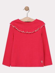 T-shirt manches longues rose fille  TOUTIETTE 1 / 20E2PF92TML304