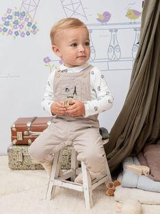 Body gris manches longues à motif fantaisie bébé garçon BADUNCAN / 21H1BG21BOD632