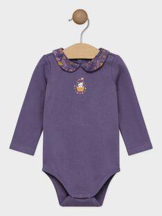 Body violet à col claudine bébé fille SAGRETA / 19H1BF61BOD712