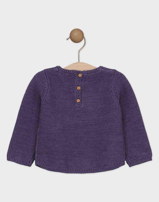 Pull violet avec lurex bébé fille   SAGAELLE / 19H1BF61PUL712