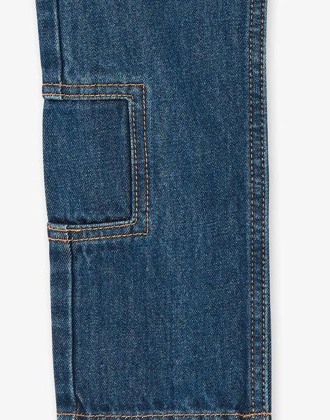 Jean bleu foncé avec patchs ZADIBAGE / 21E3PG71JEAP269