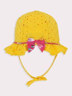 Chapeau jaune bébé fille  TAINES / 20E4BFG1CHA010
