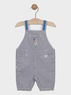 Salopette courte bébé garçon à petits carreaux  TALANE / 20E1BGH1SAC070