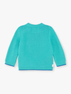 Pull bleu turquoise ZAKEVIN / 21E1BGJ1PULG621