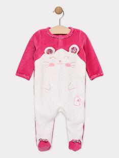 Grenouillere rose  bébé fille SEBISOUS / 19H5BFK5GRED323