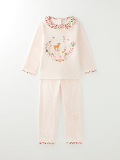Pyjama rose en velours petite fille VEJOMETTE / 20H5PF25PYJ321