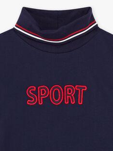 Sous-pull bleu nuit Sport enfant garçon BUZOZAGE3 / 21H3PGF2SPL705