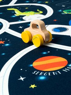Tapis de jeu : Espace et petite voiture en bois  DINO MAT / 20J7GG11ADJ208