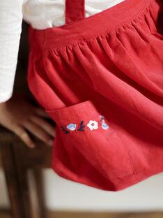 Jupe rouge à bretelles VUJAETTE / 20H2PFM2JUPF515