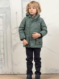 Imperméable vert kaki et doudoune détachable enfant garçon BAPARAGE / 21H3PGC1IMP604
