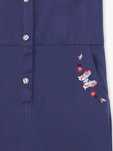Salopette bleu et boutons multicolors ZOCOMETTE / 21E2PFB1CBL216