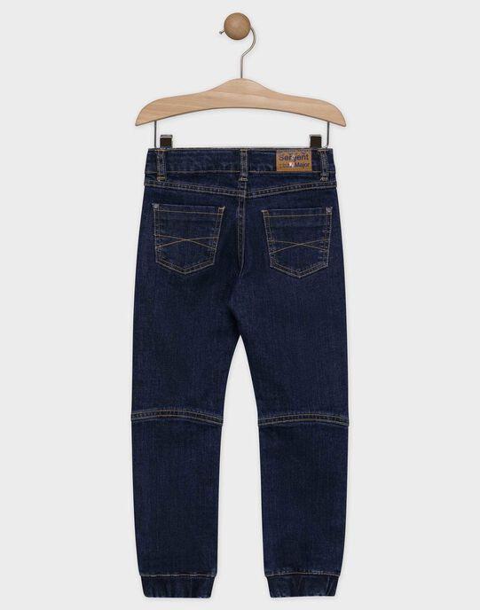 Jeans en denim bleu foncé garçon SAPATAGE / 19H3PG61JEAK005