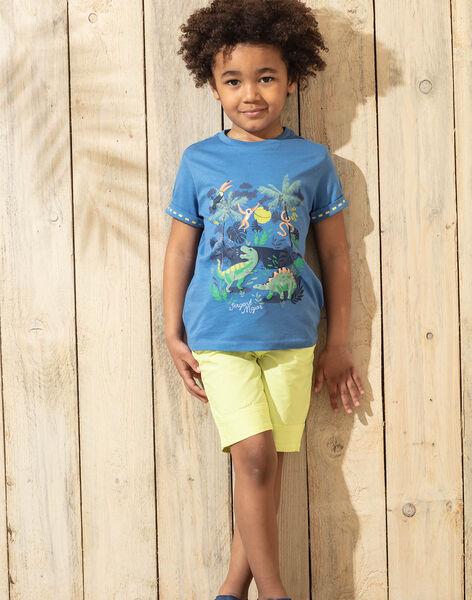 Bermuda uni vert fluo enfant garçon TUXOAGE / 20E3PGX2BERG628