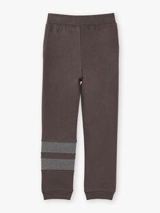 Pantalon de jogging gris foncé à détails contrastés enfant garçon ZEJOGAGE1 / 21E3PGK4JGB942