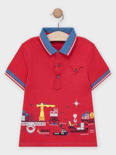 Polo rouge garçon  TUBOLAGE / 20E3PGW1POL050