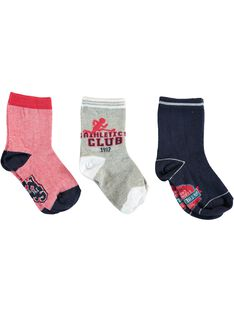 Lot de 3 paires de chaussettes petit enfant garçon  VUCHAGE / 20H4PGC1LC3050