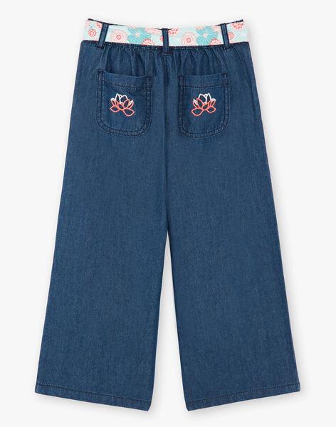 Pantalon large denim avec ceinture ZEPALAZETTE / 21E2PFI1PANK005
