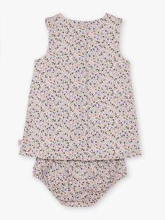 Robe et bloomer imprimé fleuri bébé fille BACHRISTIE / 21H1BF21ROB001