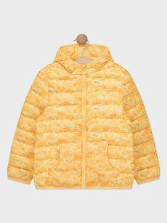 Doudoune manches longues jaune imprimée garçon vendue dans un pochon  TURIAGE / 20E3PGT2DTVB104