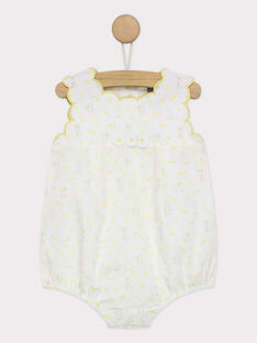 Barboteuse blanc RYGULIA / 19E0CFI1BAR001