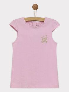 Tee shirt manches courtes violet RUFAPETTE 5 / 19E2PFQ1TMC328