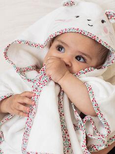 Cape de bain écrue motif souris bébé fille BEBRUNE / 21H5BF61CDB001