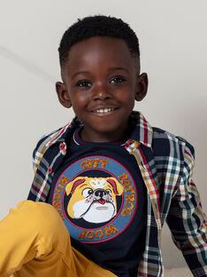 T-shirt bleu marine enfant garçon BEDODAGE / 21H3PG53TML070