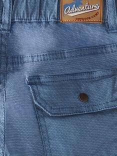 Pantalon bleu en satin VEGIAGE / 20H3PGL2PANC201