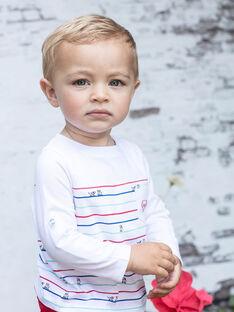 T-shirt écru à rayures bébé garçon BABILLY / 21H1BG11TML001