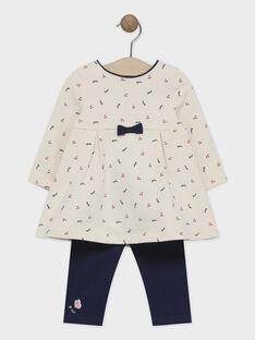 Ensemble robe imprimée avec legging bébé fille  SALOU / 19H1BFC1ENS080