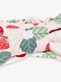 Bandeau satin imprimé fraises  ZOCHAETTE / 21E4PFJ1BAN301