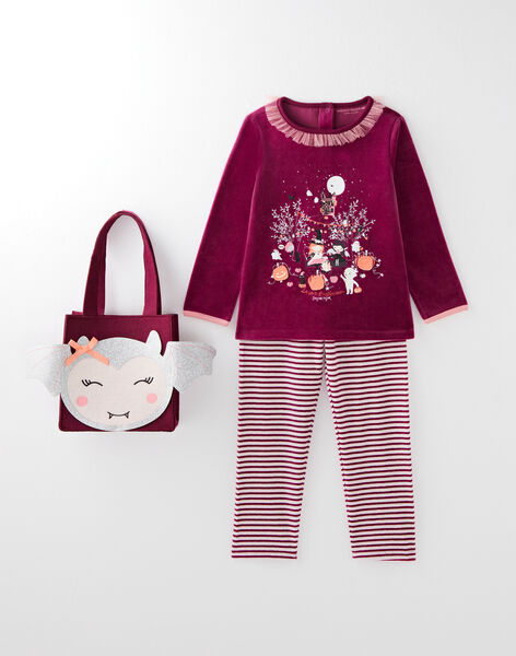 Pyjama violet thème Halloween  VEJUETTE / 20H5PFP1PYJ712