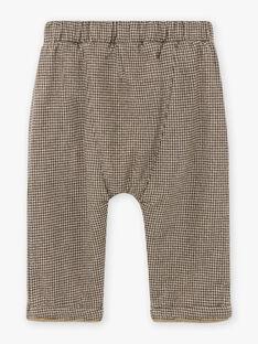 Pantalon marron à carreaux bébé garçon BASACHA / 21H1BGO1PAN814