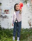 Cardigan maille fine imprimé fleuri enfant fille BAZIETTE / 21H2PF11CAR001