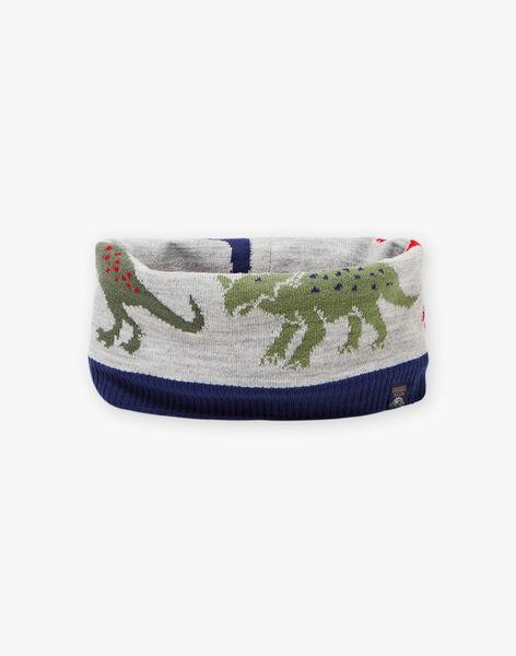 Snood bicolore motif dinosaures enfant garçon BAFILAGE / 21H4PGD3SNO943