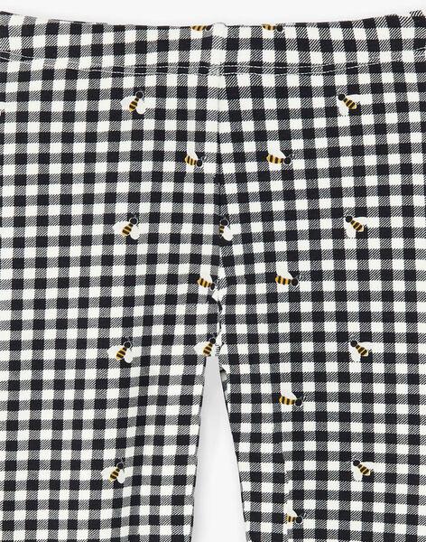 Legging doublé imprimé carreaux et abeille ZECOETTE / 21E4PF91CAL090
