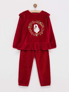 Pyjama rouge  PYRAMETTE / 18H5PFS2PYJF512