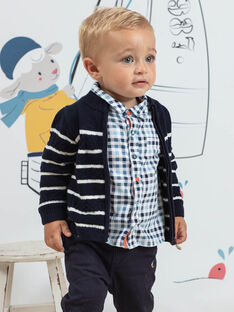Gilet maille fantaisie à rayures bébé garçon BANELSON / 21H1BGL1GILC205