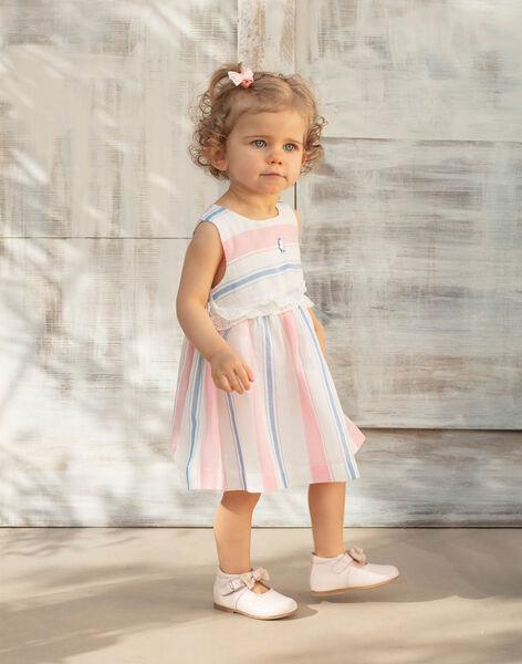 Robe écrue à rayures et bloomer bébé fille ZAPHOEBE / 21E1BFT1ROB001