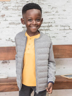 Gilet gris en maille enfant garçon BUXATAGE2 / 21H3PGB2GIL941