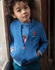 Teddy bleu broderie dragon ZADOUNAGE / 21E3PGJ1GILC206