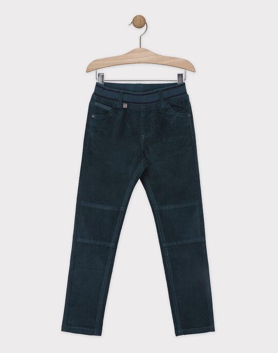 Pantalon vert en velours garçon SISLIMAGE 4 / 19H3PGH3PAN608